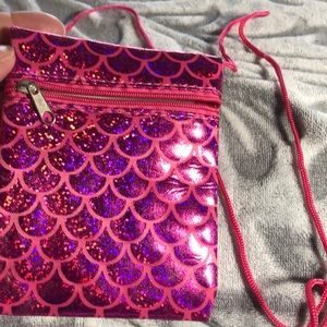 Handbags - Pink small mini mermaid messenger bag NWOT